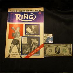"August 1955 ""The Ring"" with articles ""Who Next for Marciano?"" & ""Helfland Heads Boxing Clean-Up""; &"