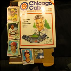 "Mint condition, Vol.1 No.1 ""Chicago Cubs 1982 Official Souvenir Program Magazine""; & 14"" Card Stock"