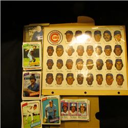 "1973 Chicago Cubs Team Photo with signatures; & 14"" Card Stock Box full of 1978 Topps Baseball Cards"