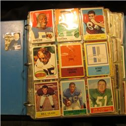 Three-Ring Notebook full of old Football cards in (39) 8 or 9-pocket plastic pages.  Most appear to