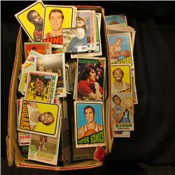 Shoe Box full of old Basket Ball & Hockey Cards.