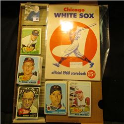 14  Card Stock Box Nearly full of 1965 Topps Baseball Cards; & a used  Chicago White Sox official 19