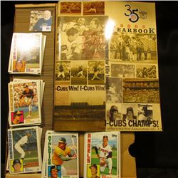"""35 Years Triple-A Baseball 2003 Yearbook I-Cubs Champs!"" & a full 14"" Card Stock Box of 1984 Topps"