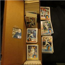 14  Card Stock Box about half full of 1983 Topps & Donruss Baseball cards.