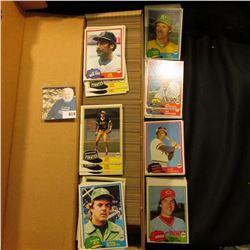 14  Card Stock Box full of 1981 Topps Baseball cards.