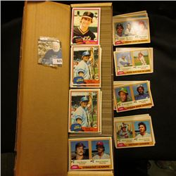 "14"" Card Stock Box full of 1981 Topps Baseball cards."