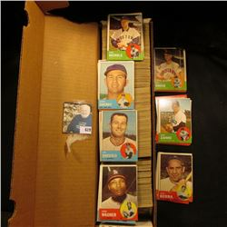 "14"" Card Stock Box full of 1963 Topps Baseball cards."