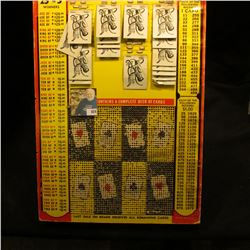 "Heavy Punch Card Game measuring 12.5"" x 18"" x 7/8"". ""Every Card a Winner Card Game"", ""Jackpot Contai"