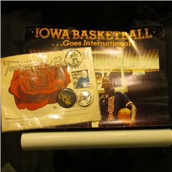 """Iowa Basketball Goes International 1984 Olympic games 1983 Pan American Games"" Poster; (3) 1970-80"
