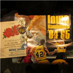 Iowa Hawkeyes 84-85  Schedule Poster; 1958 Official Program  Pasadena Tournament of Roses 69th Anni