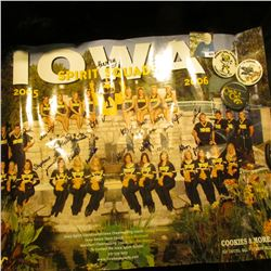 2005-2006 Iowa Herkies Squad Subway Poster with numerous autographs; & (3) different 1970-80 era Iow