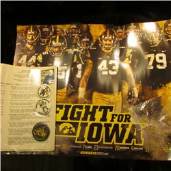 Fight For Iowa  Hawkeyes Football Poster; Typewritten  Rose Bowl Trip Revised Itinerary…State Unive