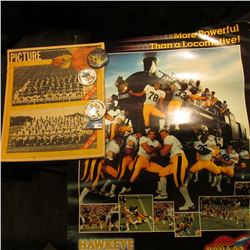 More Powerfull than a Locomotive Hawkeye Football '83 9 & 2 1983 Gator Bowl  Poster;  Des Moines Re