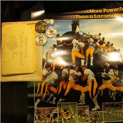 """More Powerfull than a Locomotive Hawkeye Football '83 9 & 2 1983 Gator Bowl"" Poster; Post cards & m"