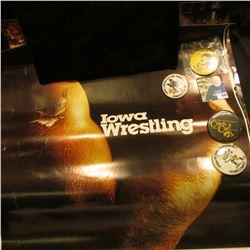 (5) Different Iowa Hawkeye Posters; & (4) Different 1970-80 era Hawkeyes Pinbacks.