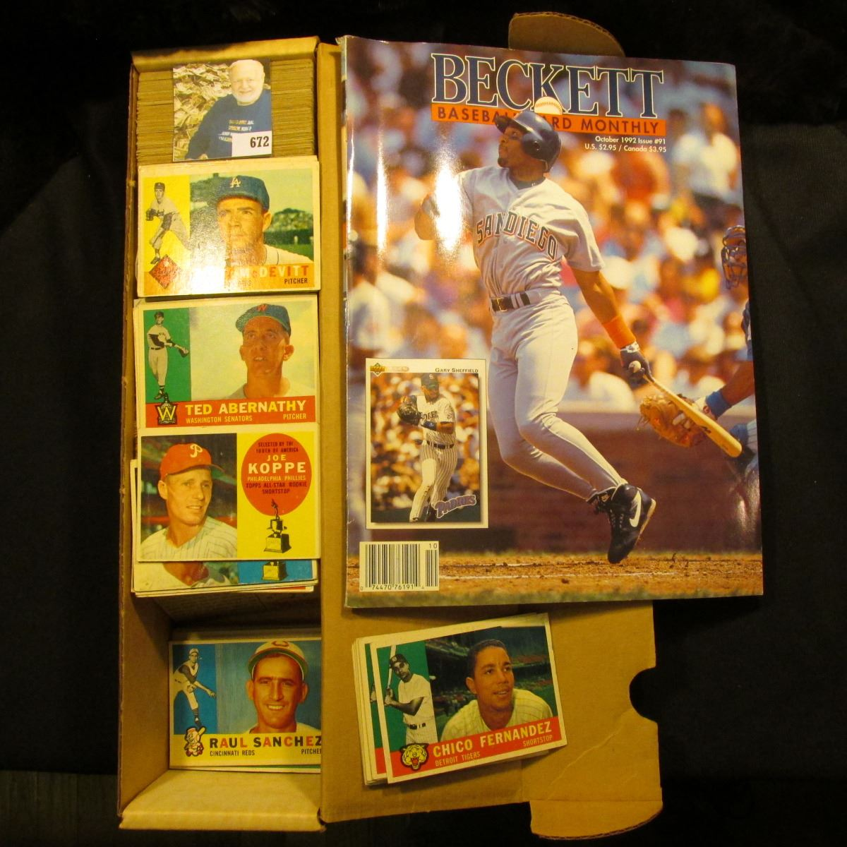 14 Card Stock Box 12 Full Of 1957 1960 Topps 1992 Issue No 91 Beckett Baseball Card Monthly