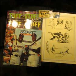 "Sept. 1990 & April 1991 ""Tuff Stuff"" Magazines; August 1991 ""Beckett Baseball Card Monthly""; circa."