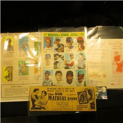 "1969 Uncut sheet ""Baseball Stars Official Photostamps American League Series 2""; uncut sheet of Fro-"