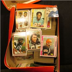 Shoebox full of 1978 era Football Cards.