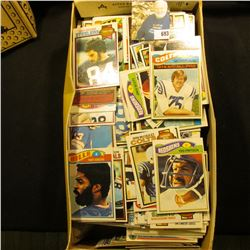 Shoebox full of 1977-79 era Football Cards.