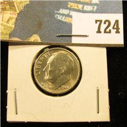 1946 P U.S. Silver Roosevelt Dime, BU.