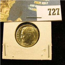 1955 D Roosevelt Dime, Brilliant Uncirculated.