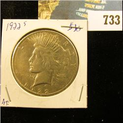 1922 S U.S. Peace Silver Dollar.