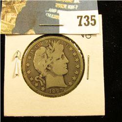 1893 O Barber Half Dollar, VG.