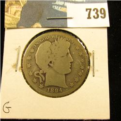 1894 S Barber Half Dollar, G.