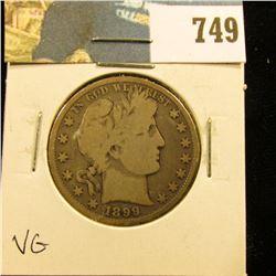 1899 P Barber Half Dollar, VG