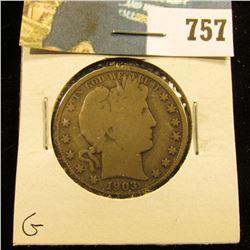 1903 P Barber Half Dollar, G