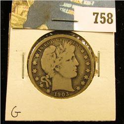 1903 O Barber Half Dollar, G