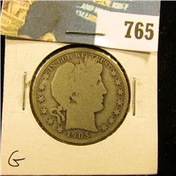 1905 S Barber Half Dollar, G.