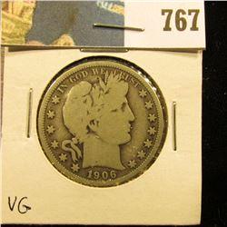 1906 O Barber Half Dollar, VG