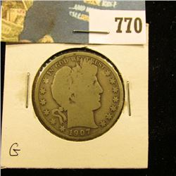 1907 P Barber Half Dollar, G.