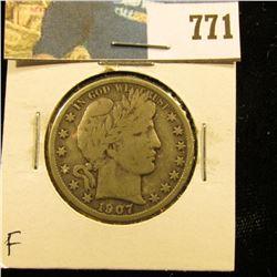 1907 O Barber Half Dollar, Fine.
