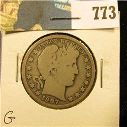1907 S Barber Half Dollar, G.
