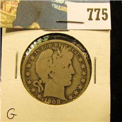 1908 O Barber Half Dollar, G.