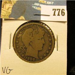 1908 O Barber Half Dollar, VG.