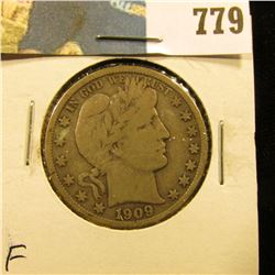 1909 S Barber Half Dollar, Fine.