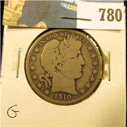 1910 P Barber Half Dollar, G.