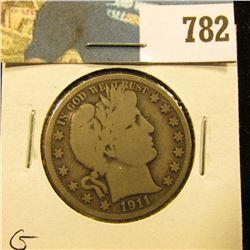 1911 P Barber Half Dollar, G.