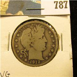 1912 S Barber Half Dollar, VG.