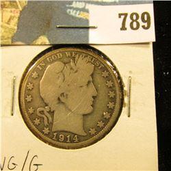 1914 P Barber Half Dollar, VG/G.