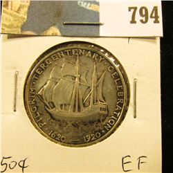 1920 Pilgrim Tercentenary Commemorative Half Dollar, EF.