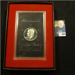 1973 S Proof Eisenhower Silver Dollar in original case of issue.