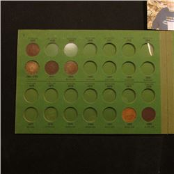 "1864-1908 Partial Set of Indian Head Cents mounted in a ""Popular Album"". (23 pcs.)."