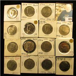 1971 D, 72 P, 72 D, 73 P, D, 74 P, D, 76 P, D, 77 P, D, 78 P, D, & 79 P, & D Kennedy Half Dollars gr