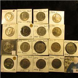 1971 D, 72 P, 72 D, 73 D, 74 P, D, S, 76 D, 77 D, 80 P, D, 81 P, D, 82 P, D, 83 P, & D Kennedy Half