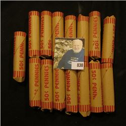 "(15) Bank-wrapped Rolls of what appears to be circulated U.S. ""Wheat"" Cents, I never opened all the"